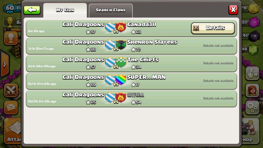 5-0 Cali Dragoons